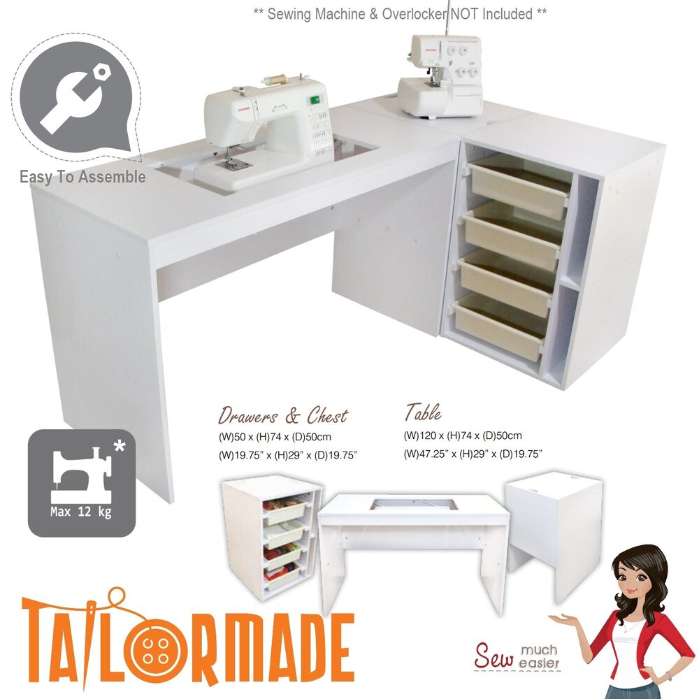 Sewing Machine Cabinet Desk Table Storage Furniture Janome