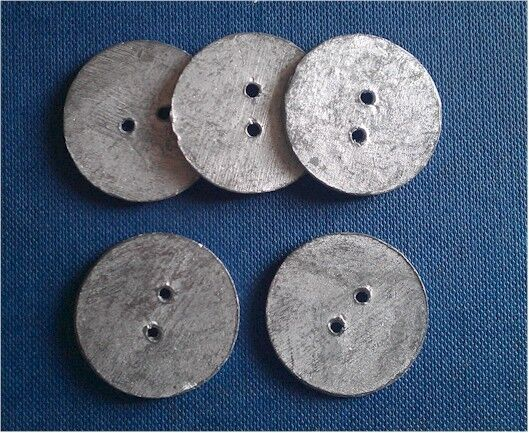 25mm 13g Lead Penny Curtain Hem Weights Round Sew in Weights - x10,x20 ...