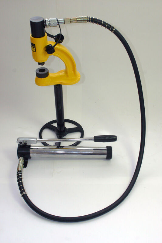 Vertical Bench Mounted Hydraulic Hole Punch Kit Including