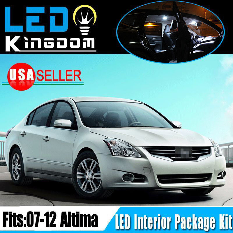 14 Pieces Pure White Led Interior Light Package Deal For 2007 2012 Nissan Altima Ebay