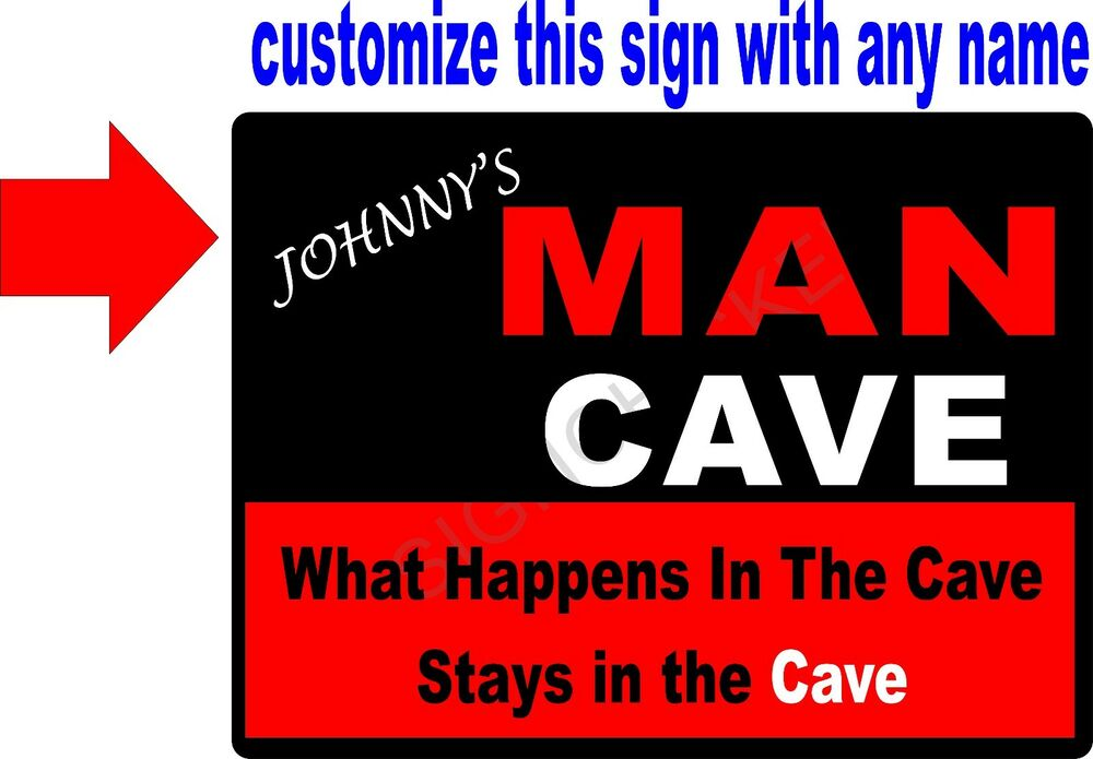 Man Cave Gifts Free Shipping : Personalized man cave sign any name quot gift