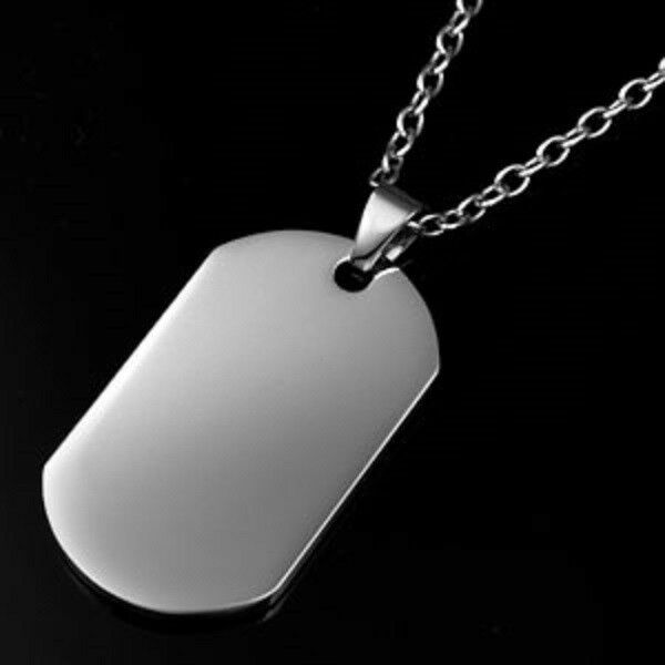 316l stainless steel titanium necklace dog tag pendant for Stainless steel jewelry necklace
