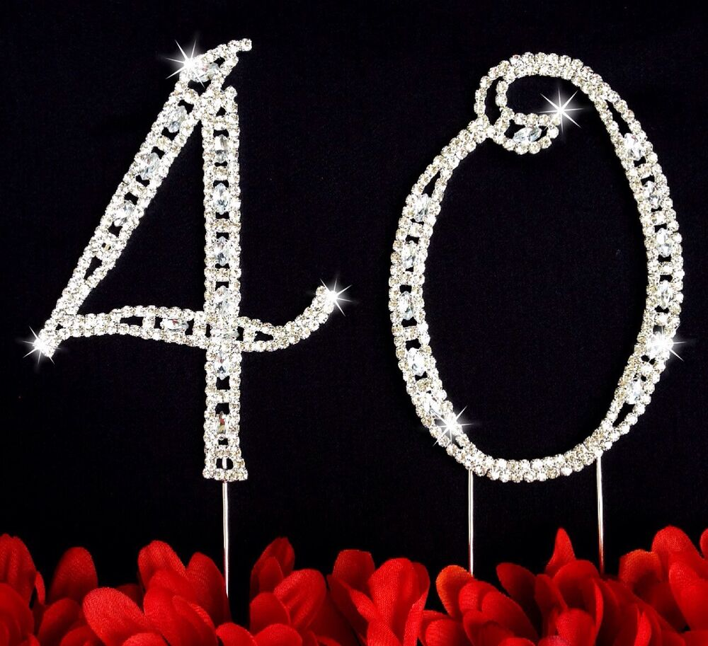 40th Birthday Wedding Anniversary Number Cake Topper Large