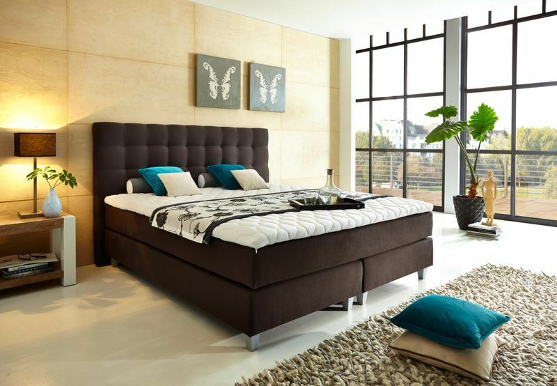 welcon boxspringbett ehebett hotelbetten doppelbett grau. Black Bedroom Furniture Sets. Home Design Ideas