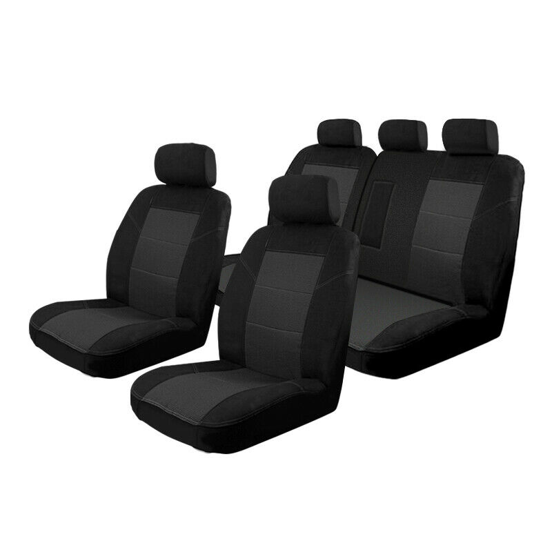 custom made car seat covers toyota rav4 2 2013 on deploy safe front rear ebay. Black Bedroom Furniture Sets. Home Design Ideas