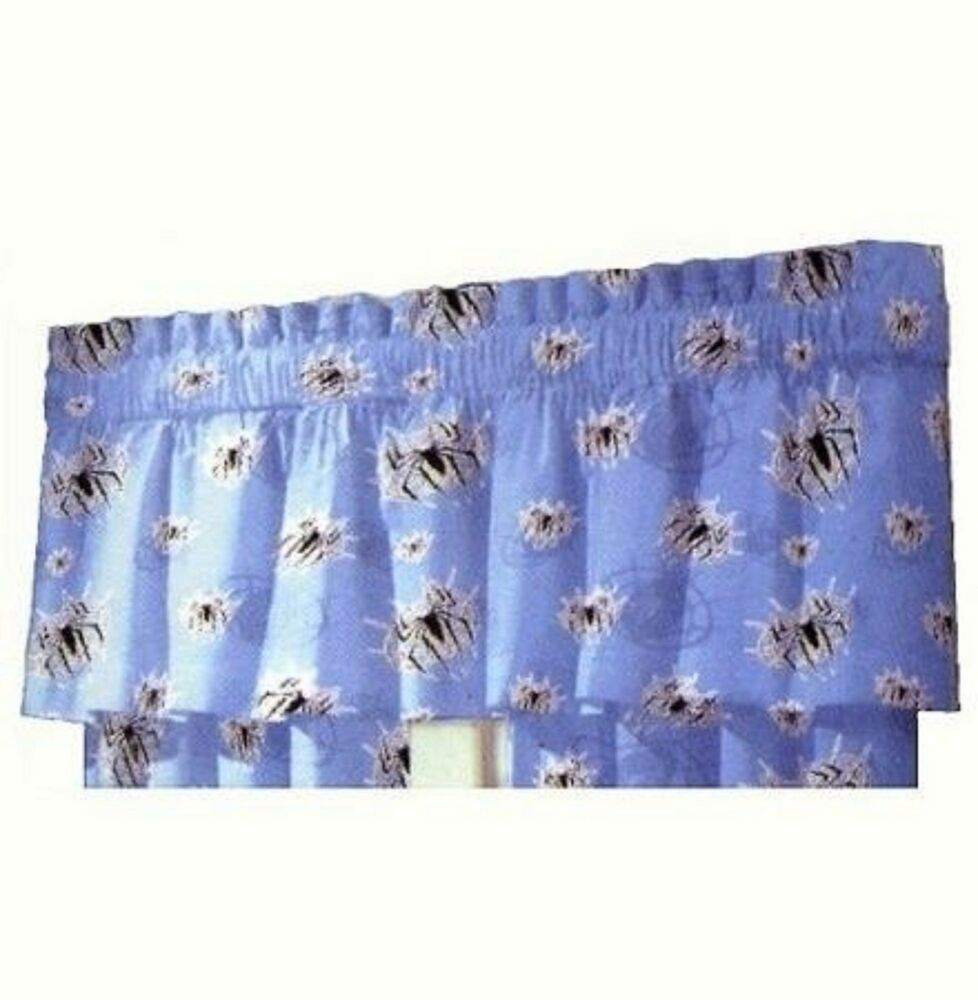 Marvel Spiderman Spider Web Decorative Ruffle Window Valance Curtains ...