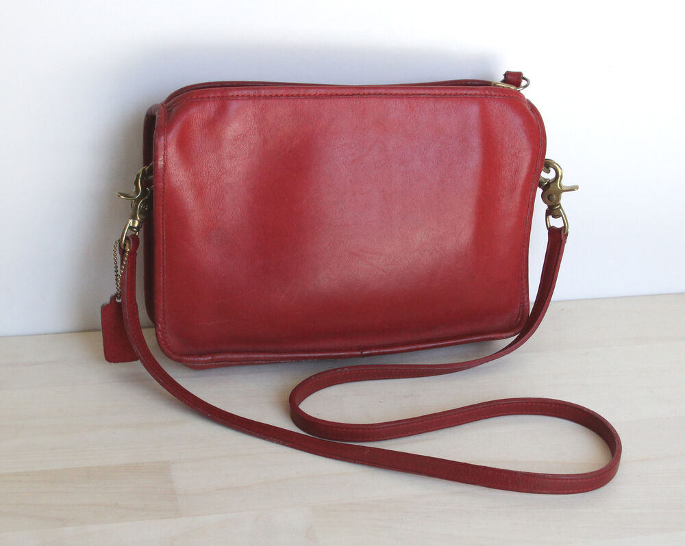 vintage coach purse shoulder bag leather made in new