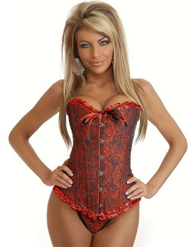 red and black gothic brocade corset m 6xl dress size 4 20 ebay