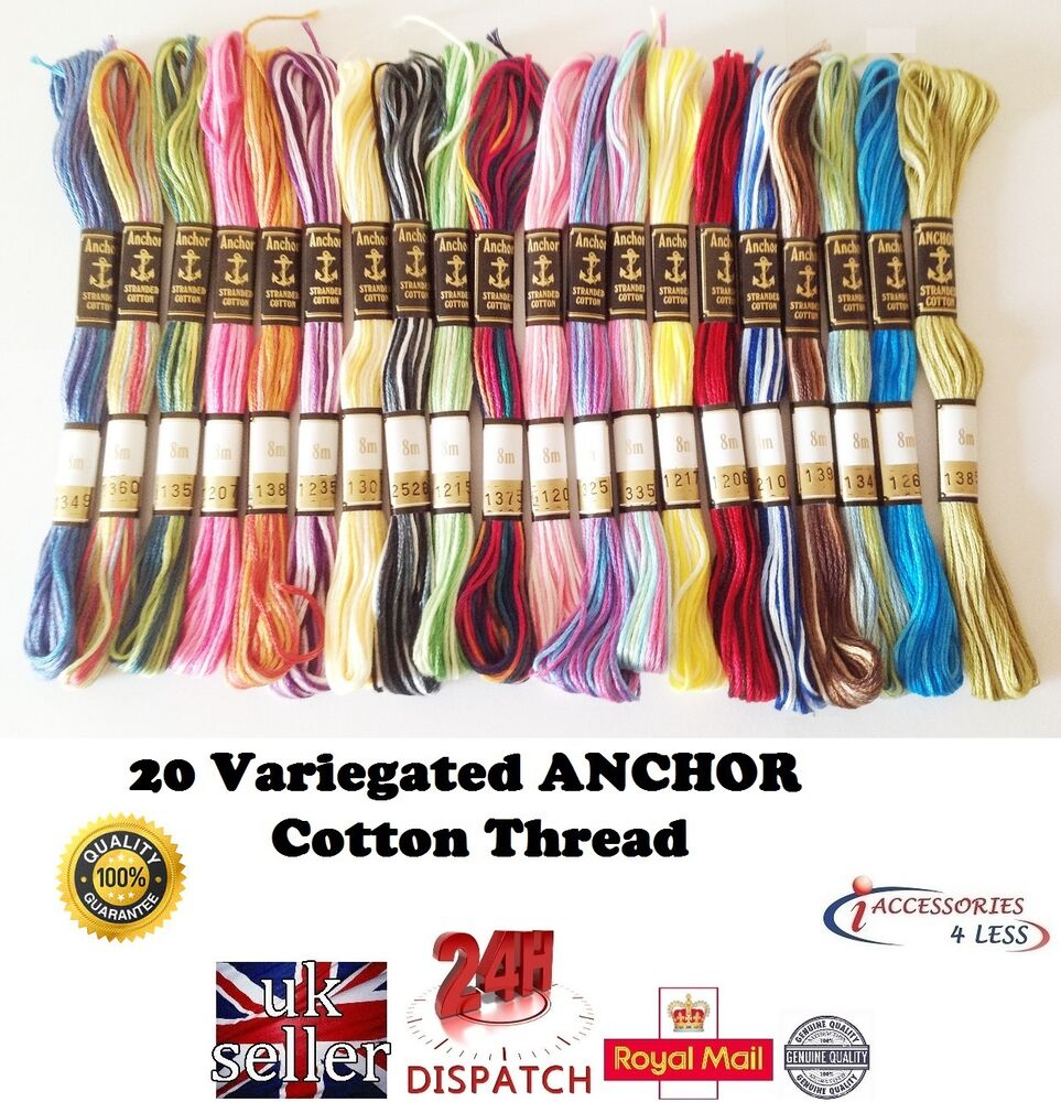 Variegated anchor cotton cross stitch thread embroidery