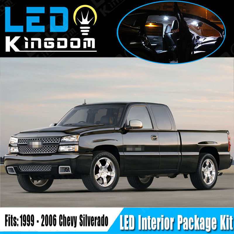 18pcs 99 06 for chevy silverado car interior led light package deal xenon white ebay. Black Bedroom Furniture Sets. Home Design Ideas