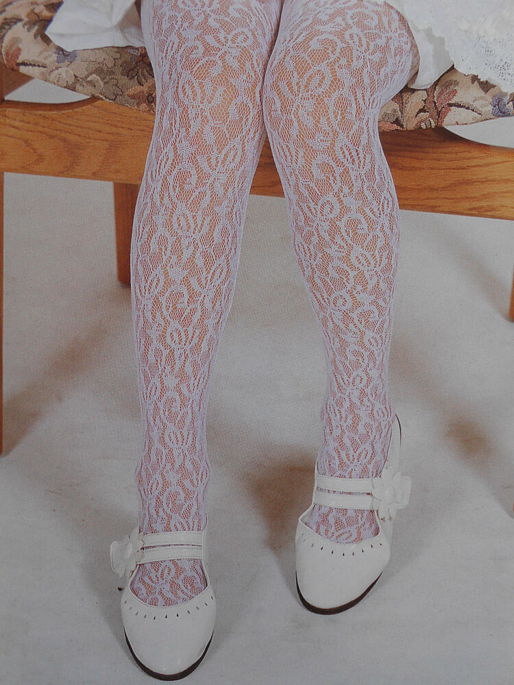 Baby Girls Lacy Tights Party Wedding Christening Special