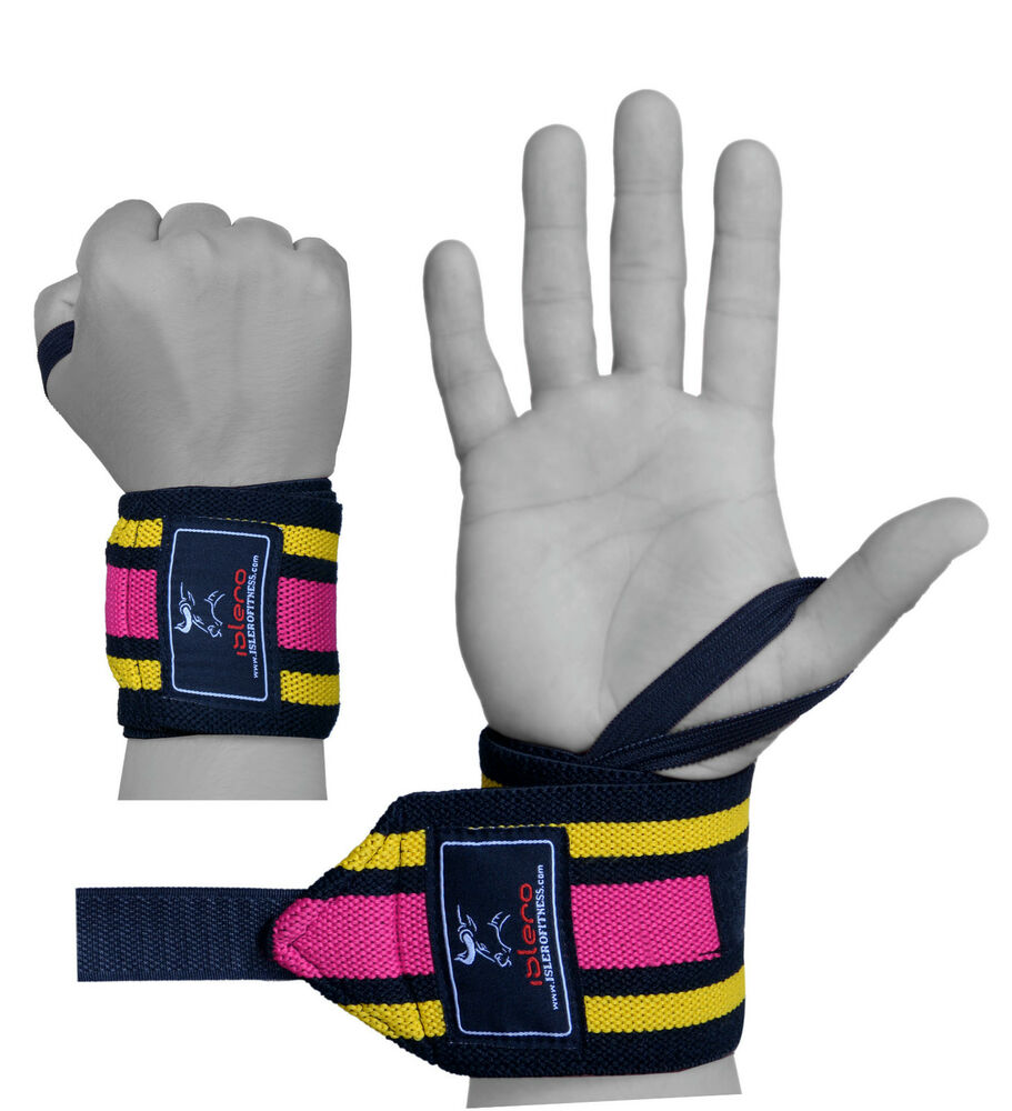 Women S Fitness Gloves With Wrist Support: EVO Ladies Elasticated Gym Straps Weightlifting Wrist