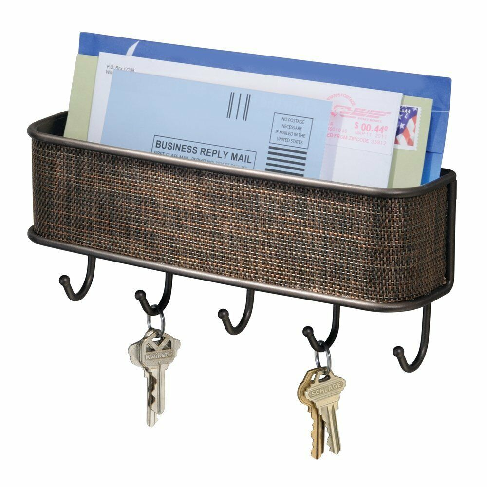 interdesign wall mail letter key holder hook rack hanger organizer storage new ebay