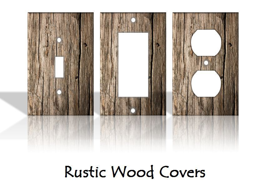 Rustic Wood Pattern Light Switch Covers Home Decor Outlet