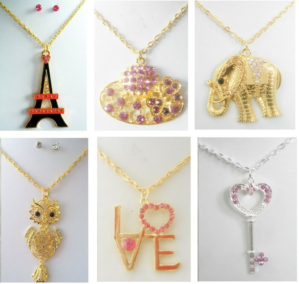 A-34 wholesale Jewelry lot 10 Pcs Pendant rhinestone ...