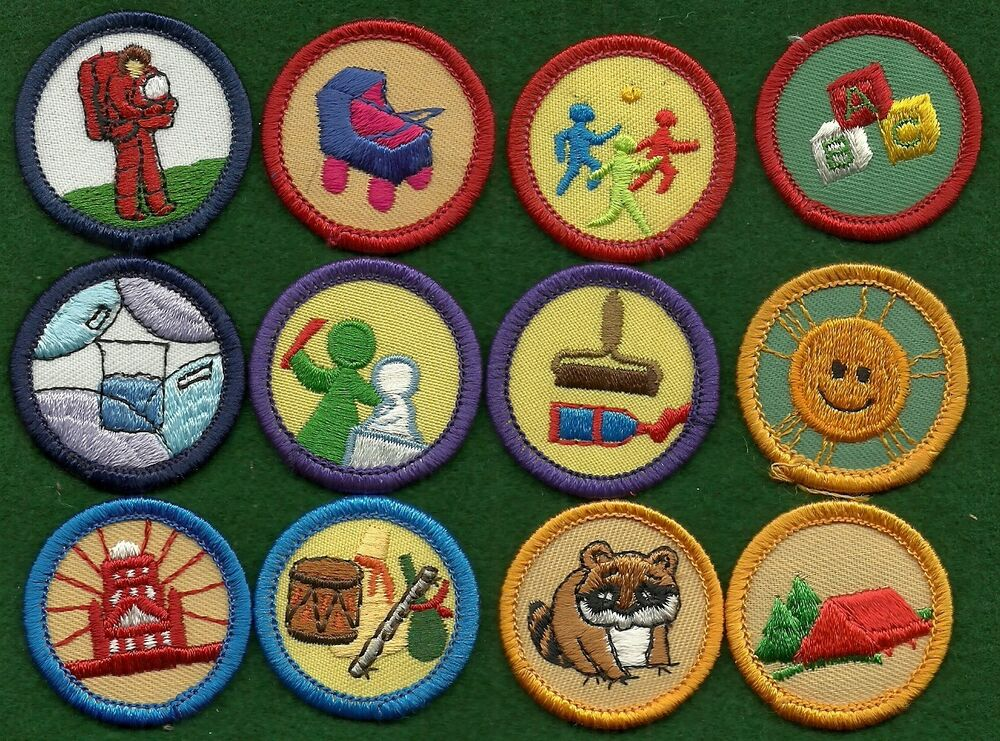 Girl Scout Badges Lot Of 12 Worlds To Explore Badges