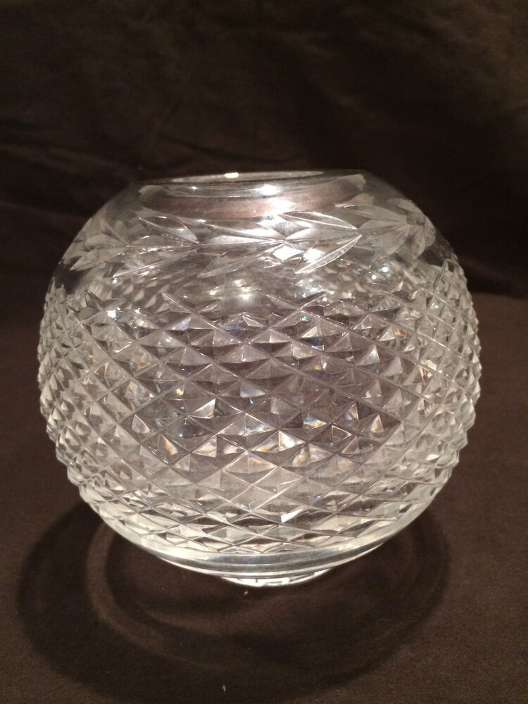 round waterford crystal vase in the glandore pattern ebay. Black Bedroom Furniture Sets. Home Design Ideas