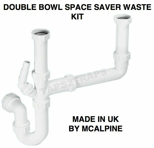 Kitchen Sink Waste Kit: MCALPINE SK2 Kitchen Sink Double Bowl Waste Kit