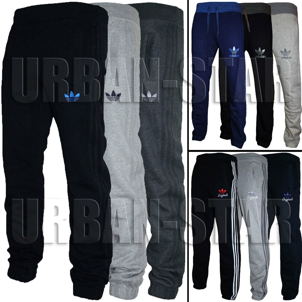 Mens Adidas Originals SPO Fleece Trefoil Tracksuit Pants ...
