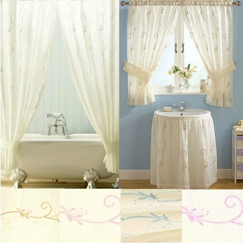 Honeysuckle bathroom range shower window curtains or for Bathroom window curtains