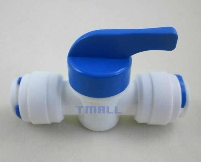 "3/8""x3/8"" Tube Ball Valve Quick Connect Shut Off For RO"