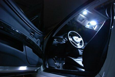 Jaguar x type led interior kit xenon white lights bulbs for Types of lights used in interiors