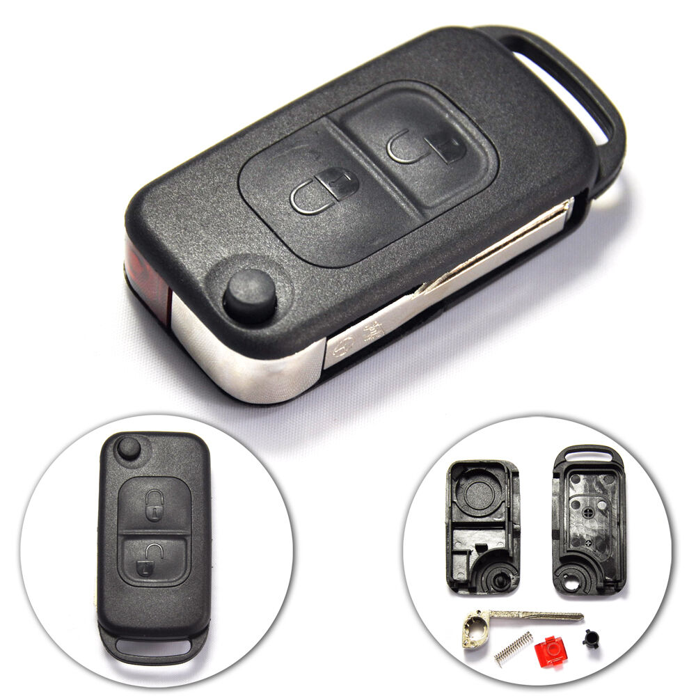 New uncut flip remote key shell for mercedes benz 2 button for Mercedes benz remote