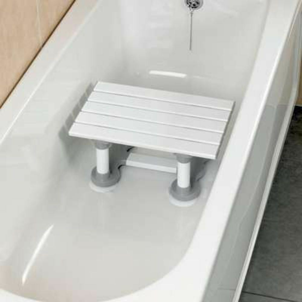 Savanah Slatted Bath Shower Seat Bathing Step Stool Secure