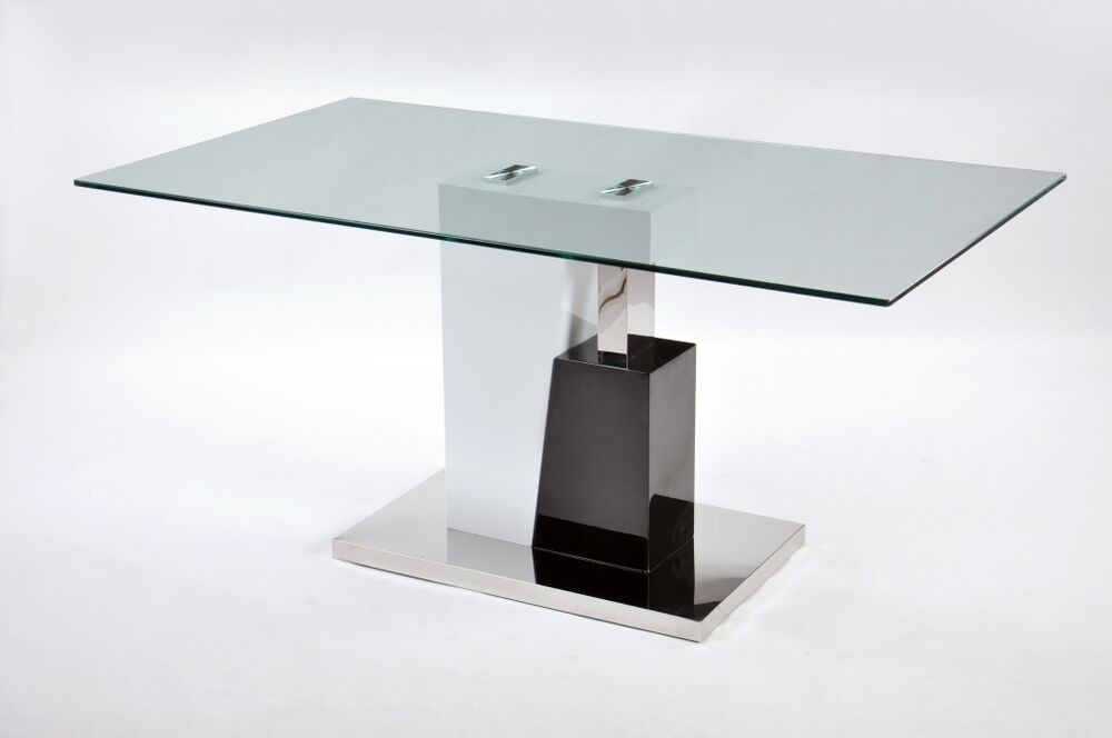 Phoenix Glass Dining Table With 4 Chairs Set Modern High Gloss Dining Room