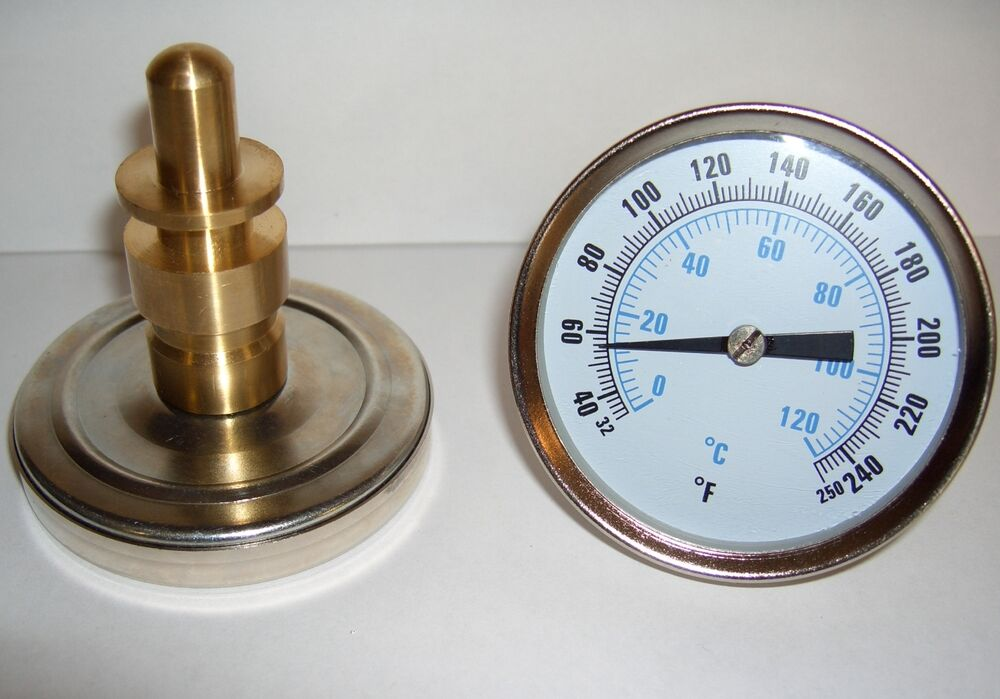 Hot Water Dial : Hot water thermometer quot dial face npt thermowell