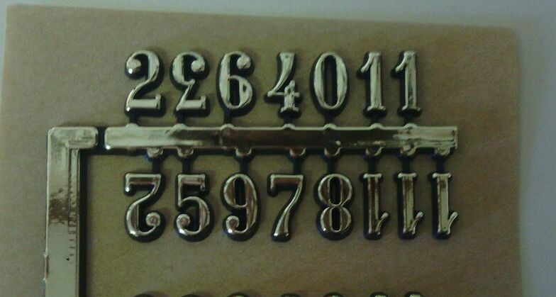 3 8 Quot Self Adhesive Gold Arabic Clock Numbers New Self