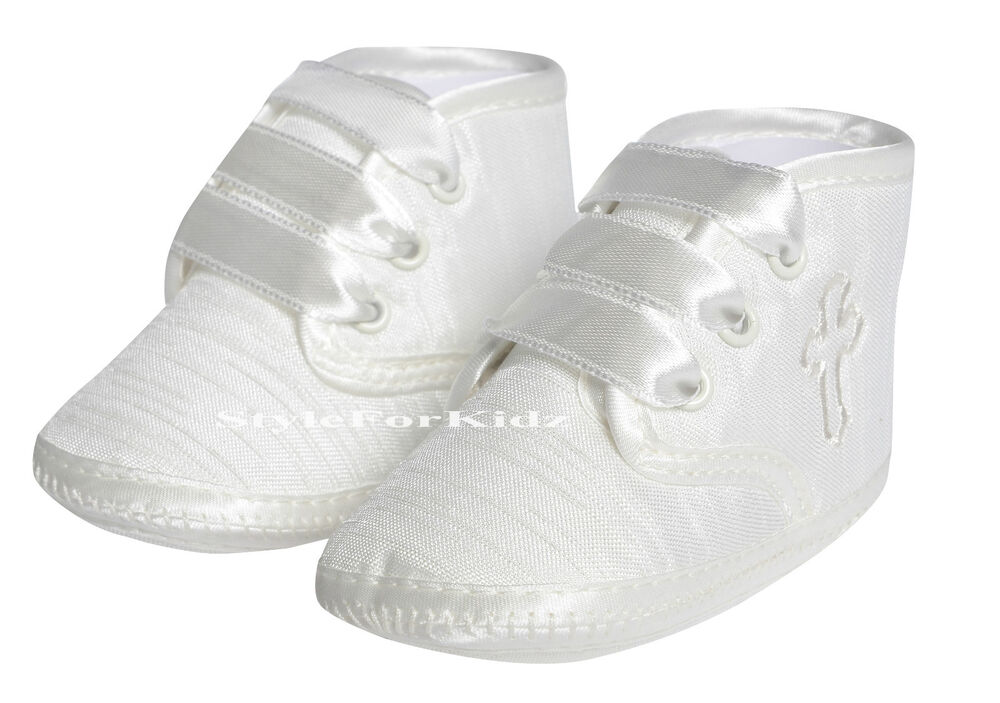 baby boys christening shoes ivory white special