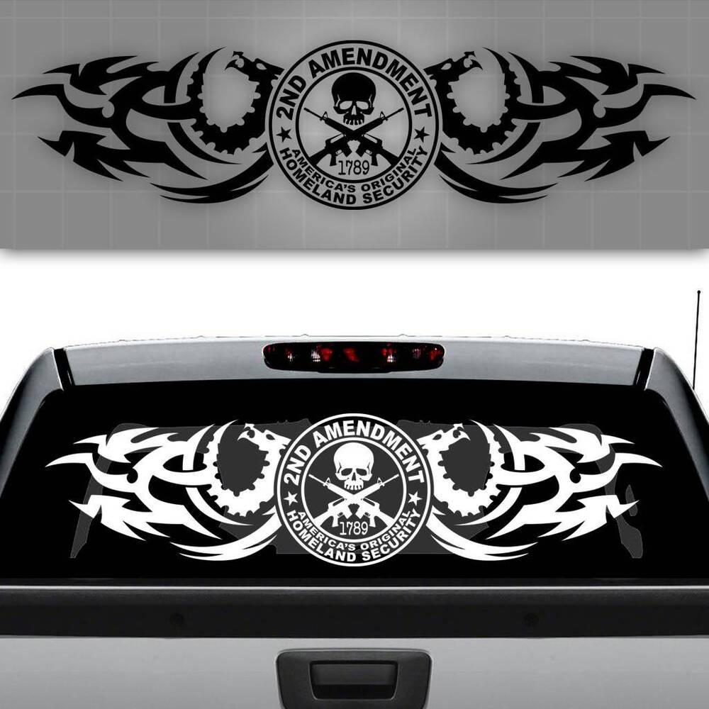 2nd Amendment Truck Decal Right To Bear Arms Sticker