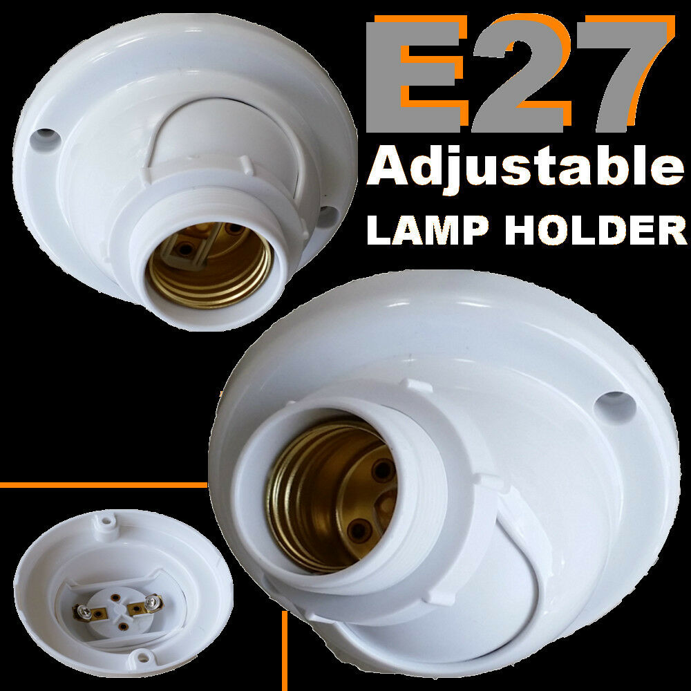 E27 Adjustable Angle Batten Lamp Holder Es Bulb Ceiling