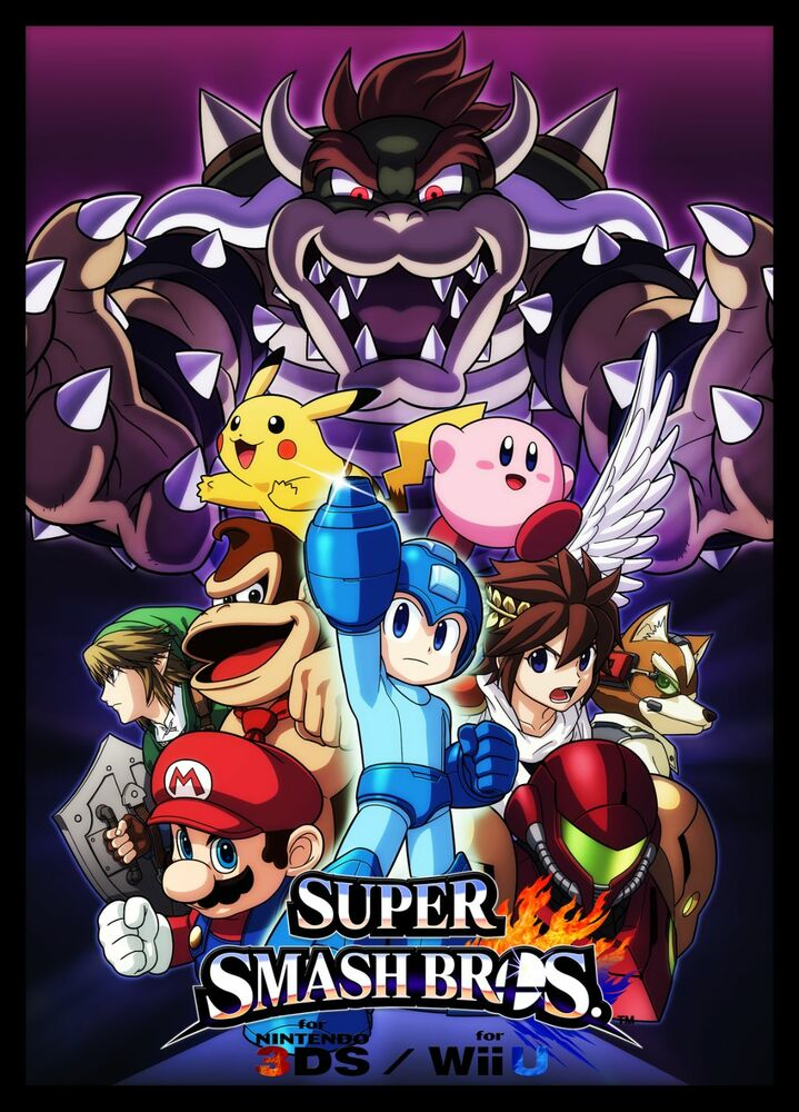 super smash bros huge wall poster 20 x 30 fast