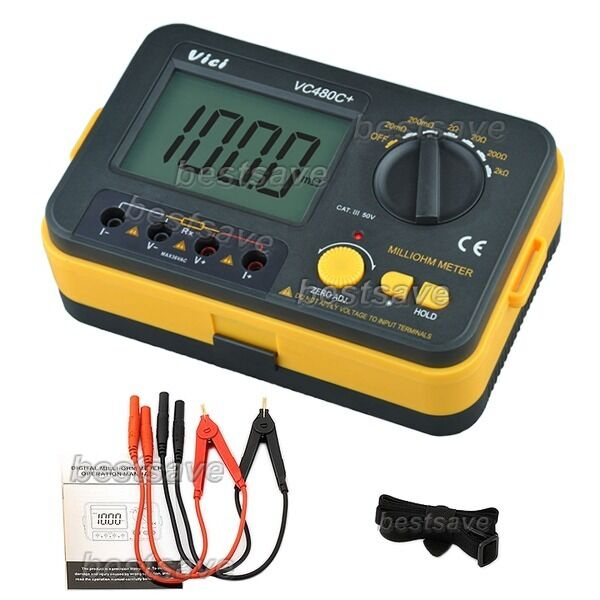 4 Wire Ohmmeter : Vici vc c digital milli ohm meter multimeter with