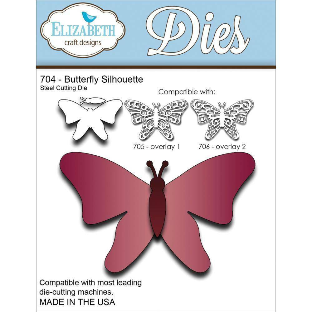 Elizabeth craft designs butterfly silhouette metal die for Crafts that sell on ebay