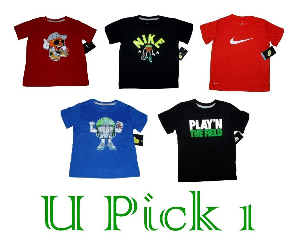 NIKE SHIRT SPORTS TEE ATHLETIC GRAPHIC T BOYS ACTIVE ...