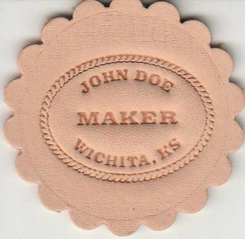 Custom Makers Stamp For Leather Embossing Clicker And Hammer Delrin Stamp Ebay