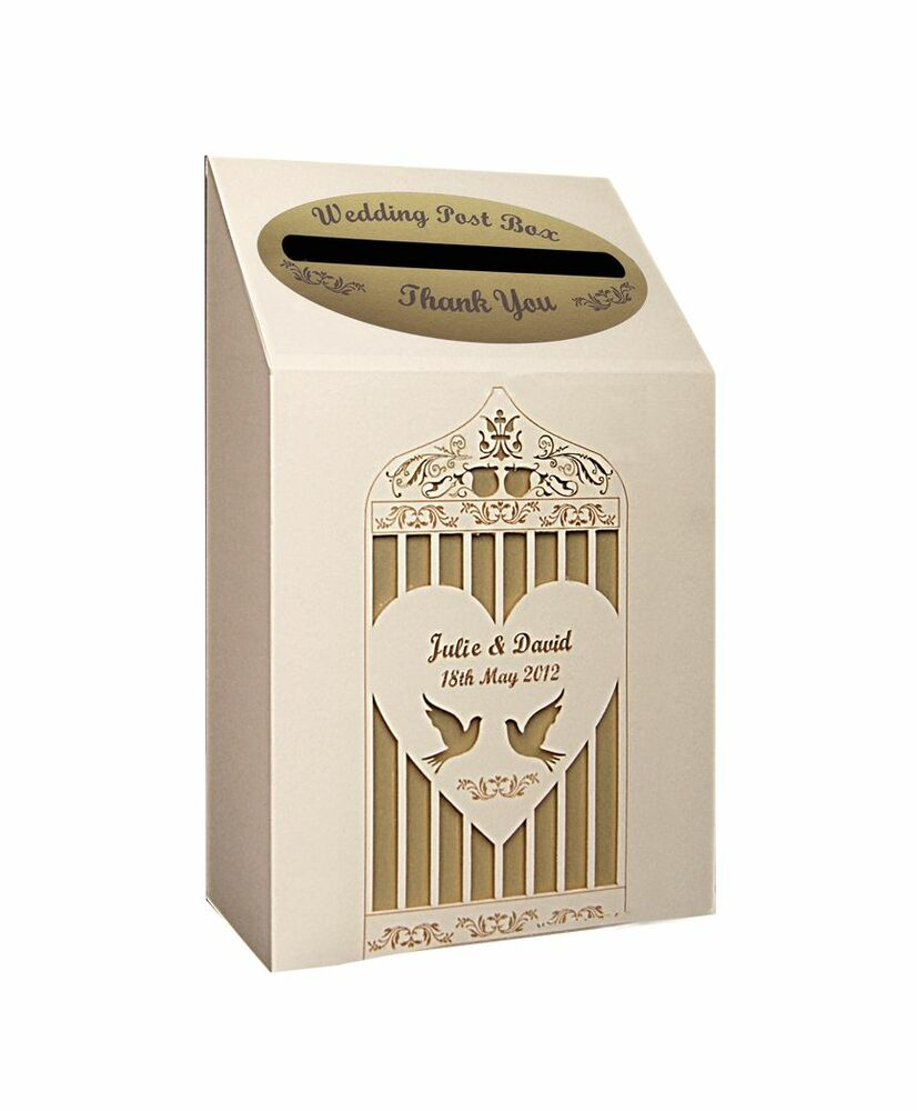 Personalised wedding post box eBay
