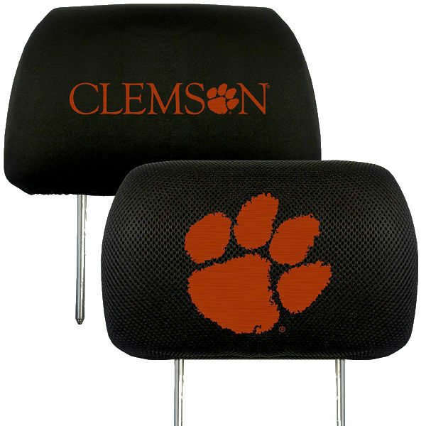 Clemson Tigers 2-Pack Auto Car Truck Embroidered Headrest