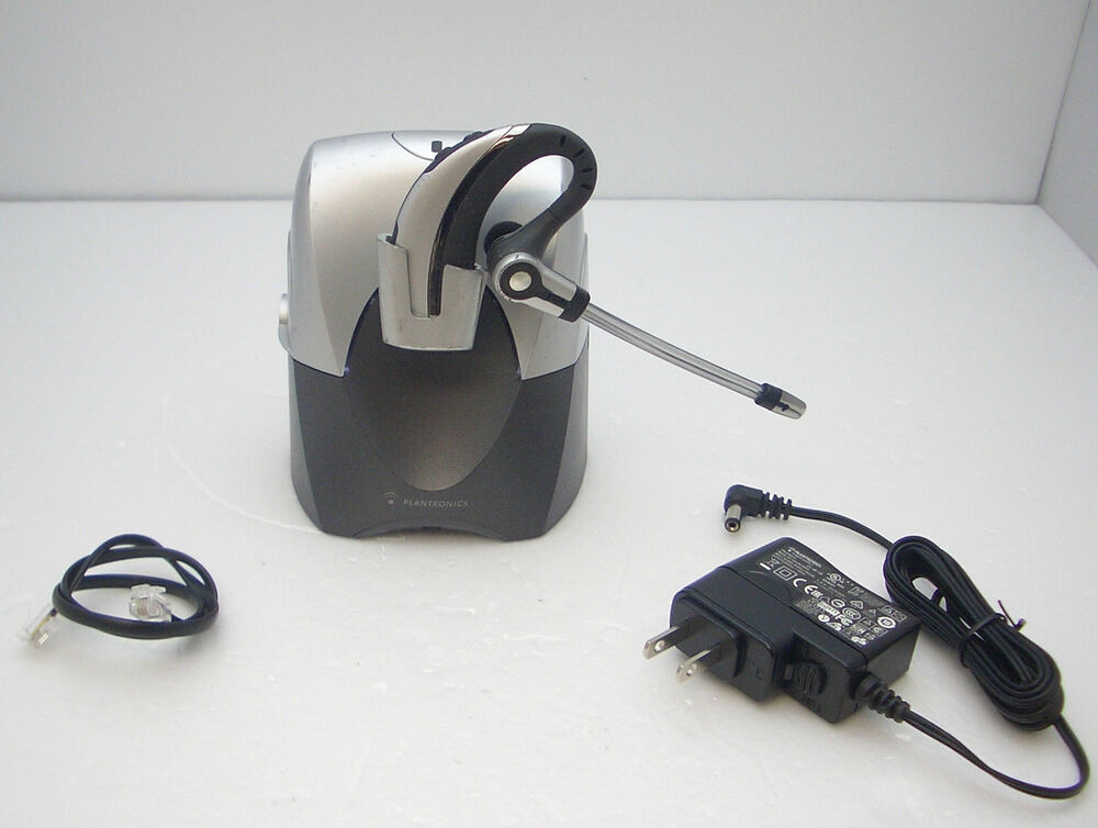 Refurbished plantronics cs70n dect 6 0 wireless office telephone headset system 17229120464 ebay - Phone headsets for office ...