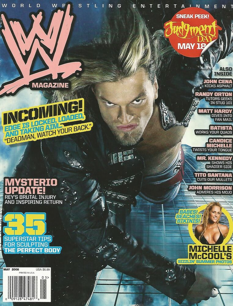 WWF RAW Magazine - November 1998 - Includes Poster - Sable