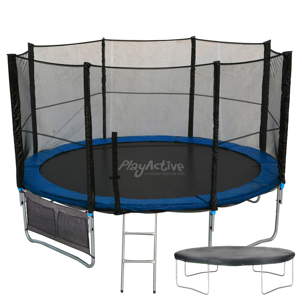 New Heavy Duty Trampoline 14 Ft With Ladder Safety Net: 8FT Trampoline With FREE Safety Net Enclosure, Ladder