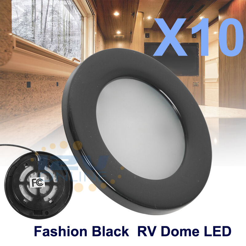 "12v Led Under Cabinet Counter Strip Light Rv Camper: 10X2.76"" Black LED Recessed Down Light RV Truck Under"