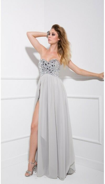 Nox Anabel silver prom dress small | eBay