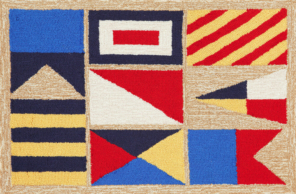 AREA RUGS NAUTICAL FLAGS RUG INDOOR OUTDOOR RUG