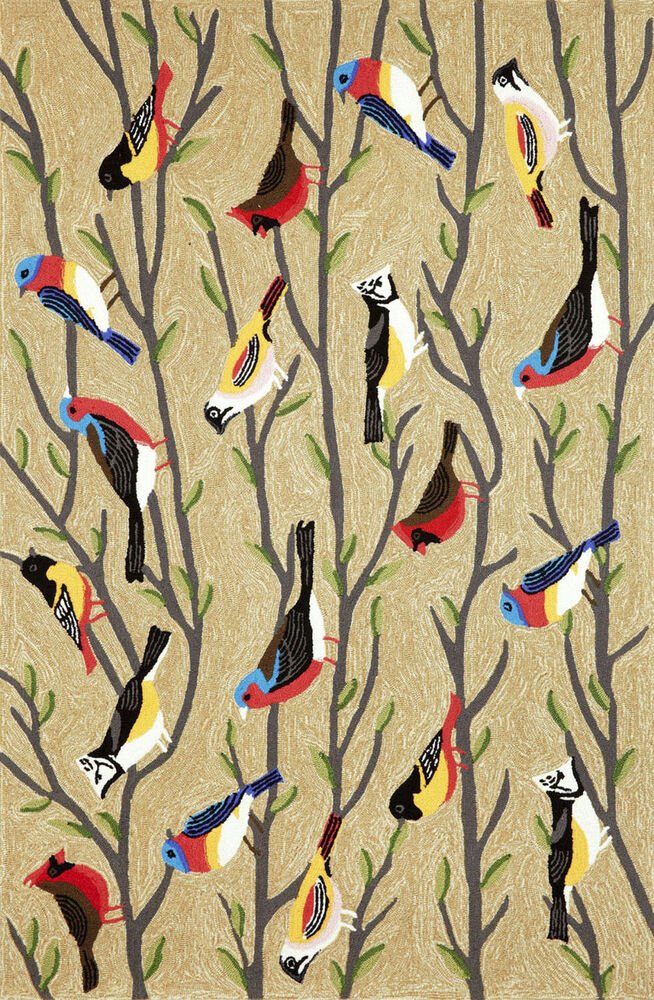 Area Rugs Quot Birds Of A Feather Quot Rug 5 X 7 6 Quot Bird