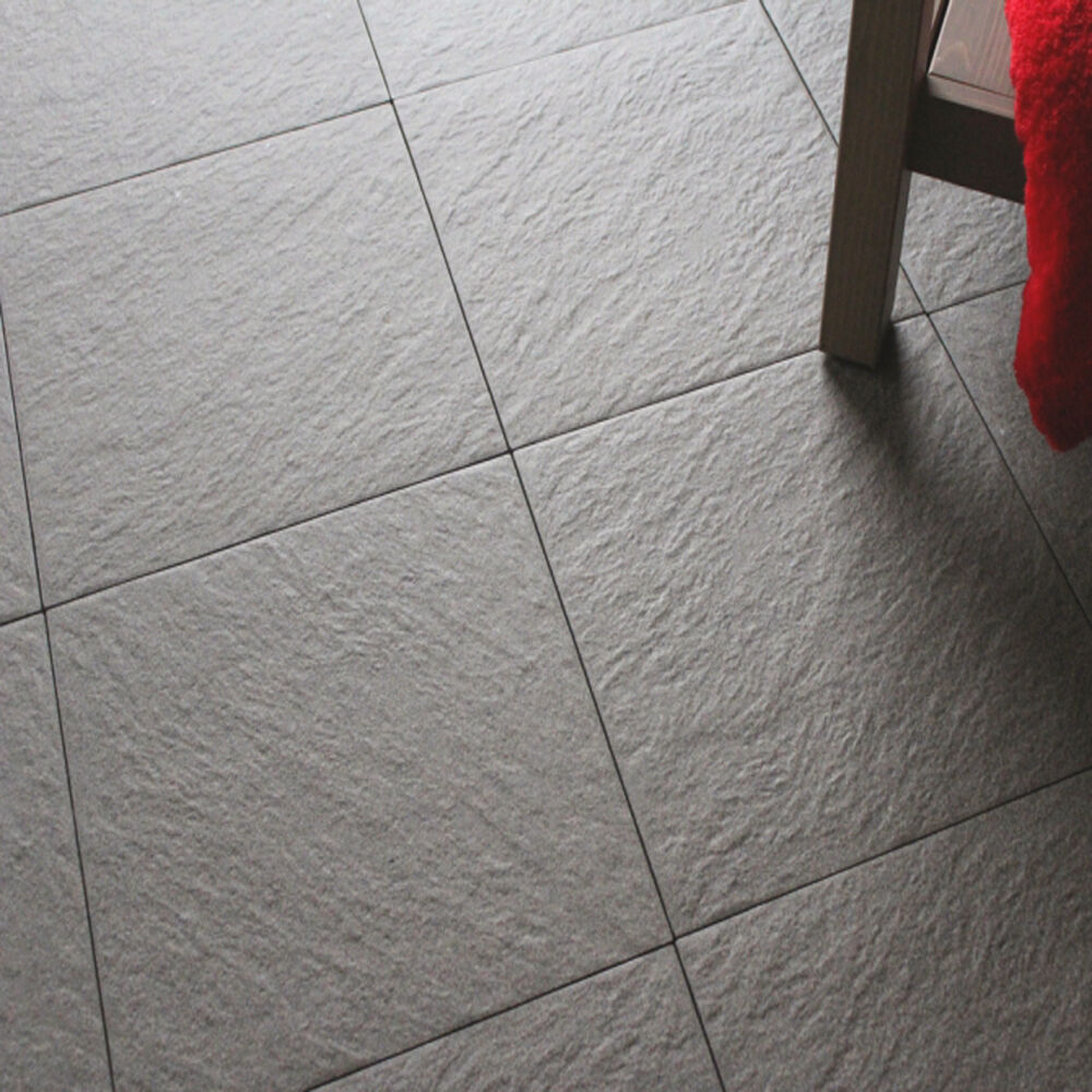 30x30 Anthracite Anti-Slip Riven Floor Tiles (1 SQM = 11