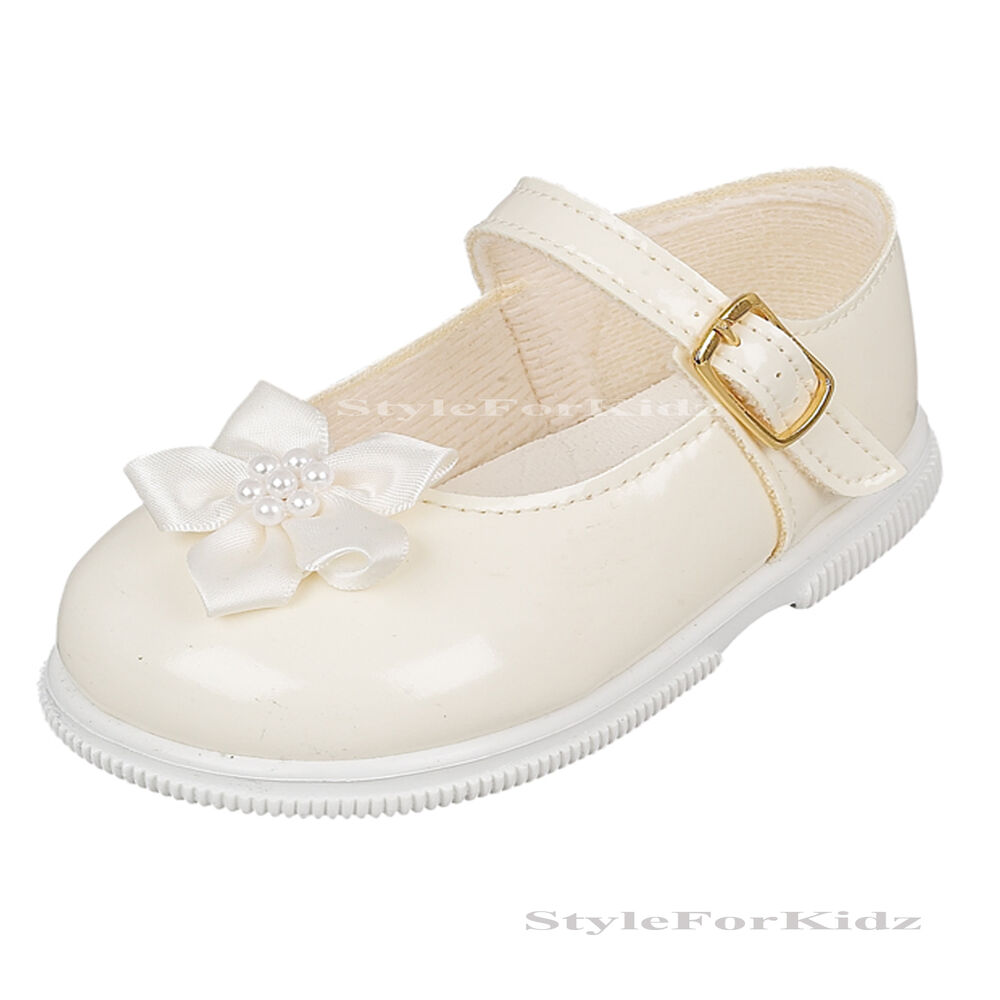 baby walking shoes ivory white christening wedding
